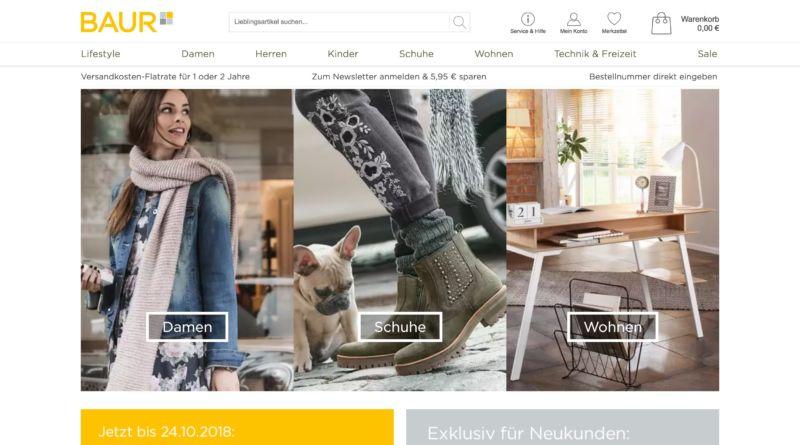 baur bietet neukunden 20 rabatt auf die erste bestellung und 1 jahr kostenloser versand. Black Bedroom Furniture Sets. Home Design Ideas